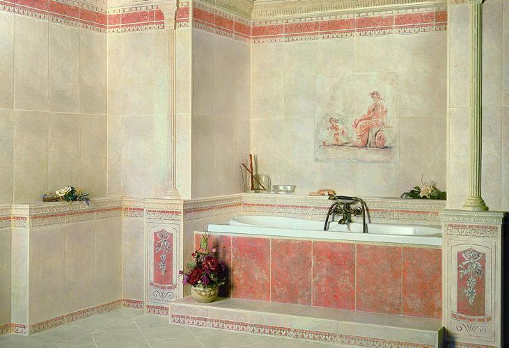 Ванна в греческом стиле фото