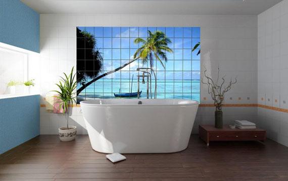 плитка с видом моря для ванной комнаты