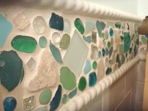 плитка для ванной с морским мотивом