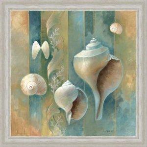 морские ракушки в интерьере ванной