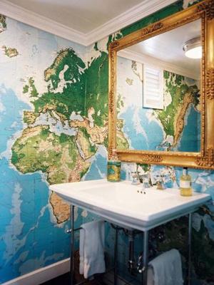 фото дизайна ванной комнаты в морском стиле
