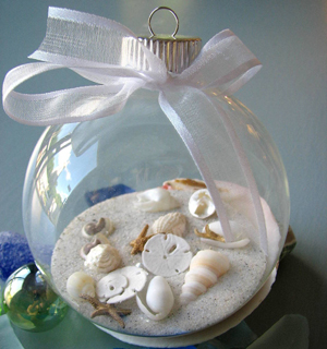 Декор морским песком