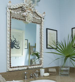 зеркало для ванны с морской темой