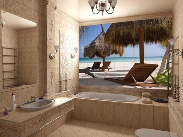 фотоплитка для ванной море