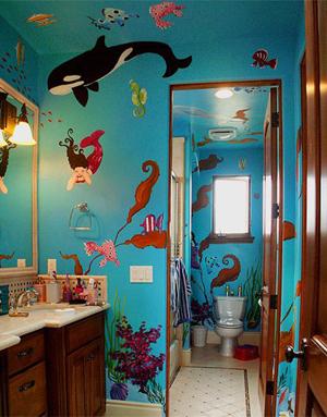 ванна в морском стиле фото