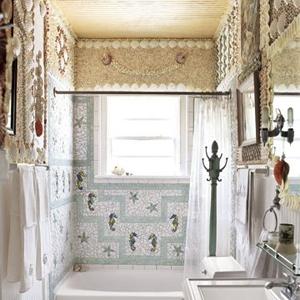 с фото. Ванная комната в морском стиле